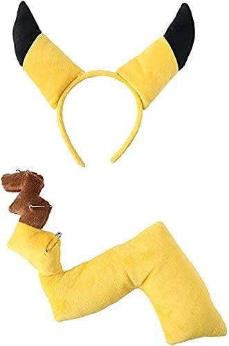ポケットモンスター ピカチュウ 耳羽カチューシャ しっぽセット コスチューム用小物 しっぽ約48cm