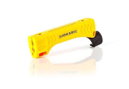 Jokari Top Coax Plus - mit integriertem Steckschlüssel zum Festziehen von F-Steckern, 1 Stück, gelb/Schwarz, 30110