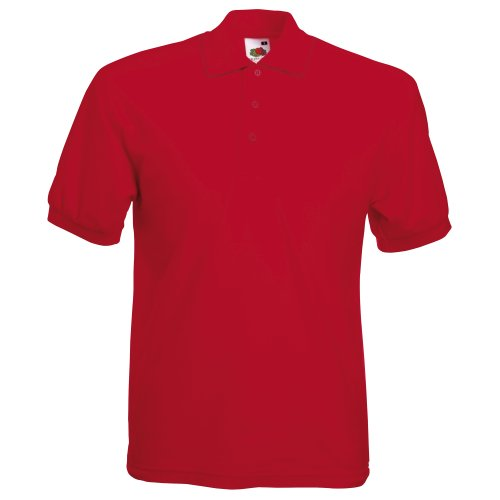Fruit of the Loom Polo à Manches Courtes pour Homme (3XL) (Rouge)