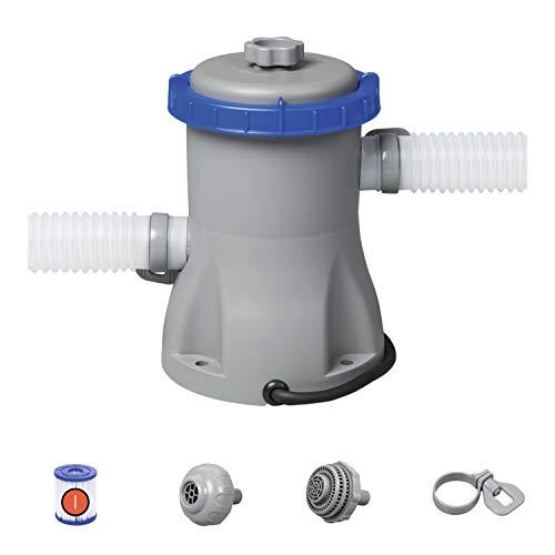 Bestway 58381 | Flowclear - Pompa di Filtraggio a Cartuccia per Piscine fuori Terra, Portata 1.249 l/h