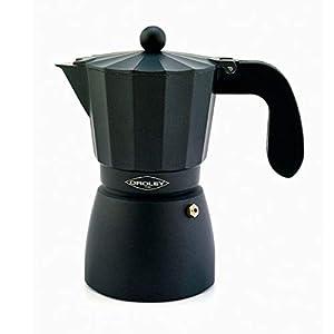 Oroley - Cafetera Italiana Touareg | Aluminio | 12 Tazas | Cafetera Vitrocerámica, Fuego y Gas | Estilo Tradicional