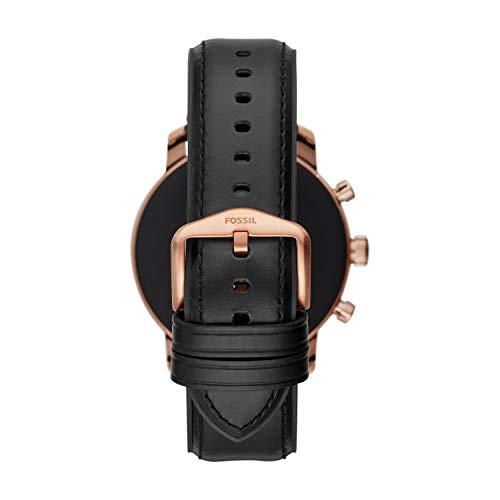 Fossil Homme Écran Tactile Digital Montre Connectée avec Bracelet en Cuir FTW4017