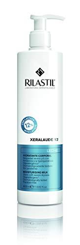 Rilastil 240358 Xeralaude 12 - Leche Corporal Hidratante, Queratoreguladora y Exfoliante para Pieles Muy Secas o Descamativas - 400 ml