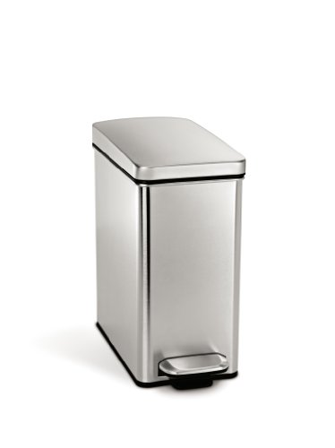 simplehuman Profile Step Trash Can, Stainless Steel, 10 L / 2.6 Gal - Discontinued