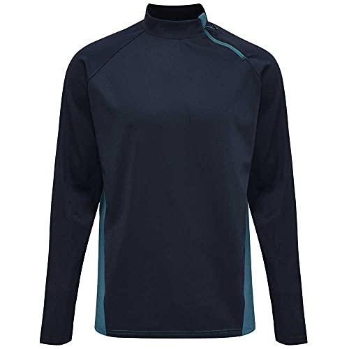 hummel Unisex-Adult hummel Action Half Zip Sweatshirt, Dark Sapphire/Blue Coral, M