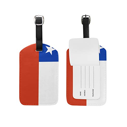 Etiquetas de Equipaje con Bandera de Chile para Maleta de Viaje