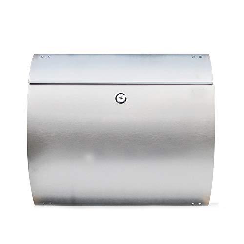 Zhongwei - Postfach Briefkasten, halbkreisförmiger, an der Wand befestigter Briefkasten aus rostfreiem Stahl for den Außenbereich. Regensicherer, diebstahlsicherer Zeitungsbriefkasten, for Zeitungen g