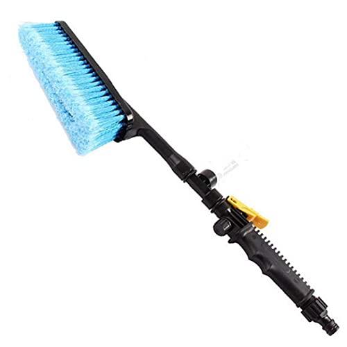 PiniceCore - Adaptador de manguera para lavado de coche, cepillo de limpieza para vehículos y camiones, boquilla de pulverización de agua de cerdas suaves