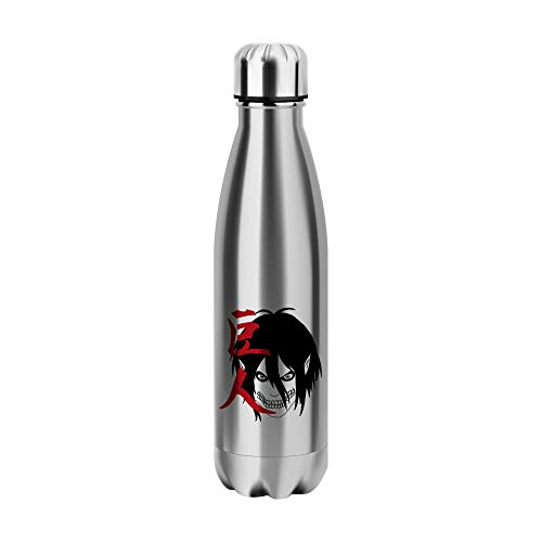 Desconocido Attack On Titan Japan Water Bottle CO009 Botella de Agua Stainless Steel Funny Insulated 500ml Thermos For Hot and Cold Sports Gym Drink Flask