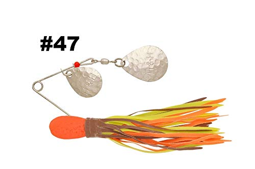 H&H Lure Double Spinner Fishing Equipment, 3/8 oz, Orange Chart