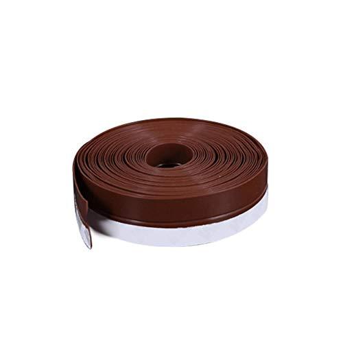 Tings 1 Roll Siliconenrubber Bad Muurafdichtstrip Waterdicht Zelfklevende tape Aanrecht Wastafel Rand Afdichtingstape, Bruin, 3.5x100cm