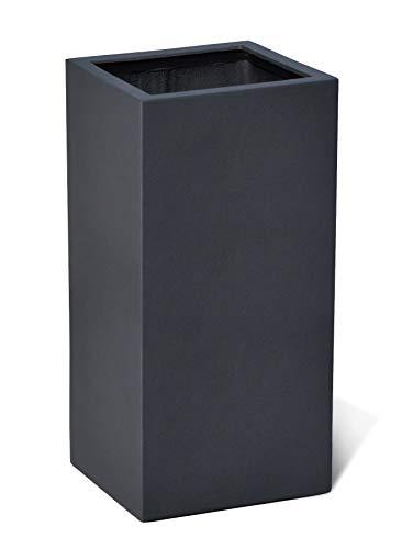 VAPLANTO® Pflanzkübel High Cube 70 Anthrazit Schwarz Quadratisch * 35 x 35 x 70 cm * Manufaktur Qualität * 10 Jahre Garantie