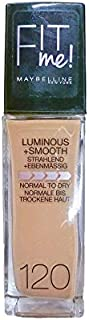 Maybelline Fit Me Foundation Luminous + Smooth 120 Classic Ivory 30ml