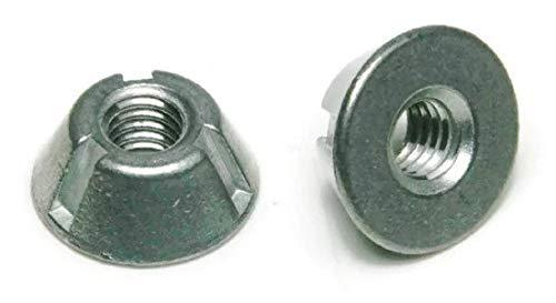 Tri-Groove Tamper Proof Security Nuts Zamak 5 Zinc #10-24 - Qty 25