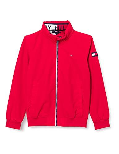 Tommy Hilfiger Essential Jacket, Chaqueta Niños, Carmesí Intenso, 80 cm