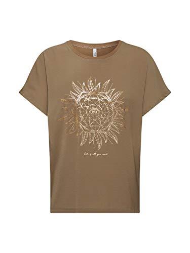 Only Onlnova L/s V-Neck Smock Top AOP Wvn Camiseta, Verde (Martini Olive Print: Love Gold Foil Print), 36 (Talla del Fabricante: X-Small) para Mujer