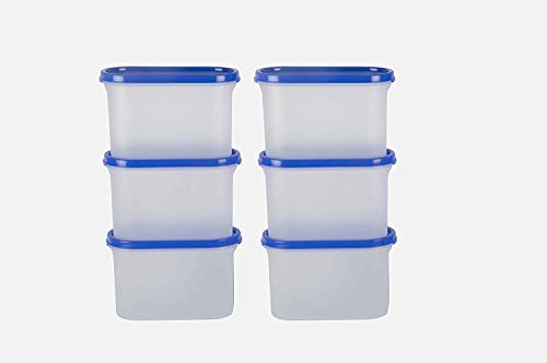 Cutting EDGE Modular Stackable BPA-Free Airtight Kitchen Storage Container Set, Peppy Blue, 1200ML (5 Cup/40 Oz) – Set of 6