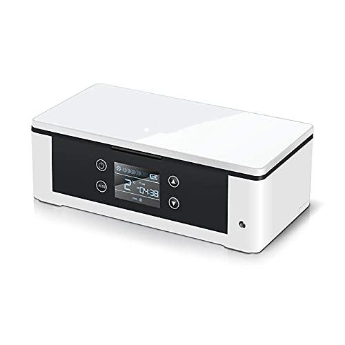 SHKUU Caja refrigerador Recargable, portátil, pequeño, termostato Inteligente, Mini refrigerador para Coche, refrigeración, hogar, Dormitorio, Viaje