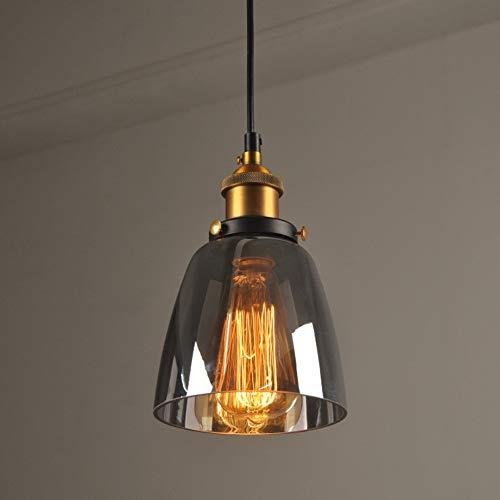 Industrielle Vintage Style E27 Lampshade Suspension Light Glass Petit Bowl-Shaded Light Holder Rétro Pendentif Fixture