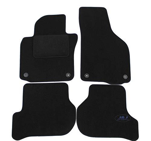 J&J AUTOMOTIVE   Tapis DE Sol Noir Velours Compatible avec Golf 5 et Golf 6