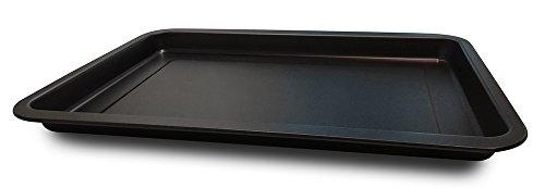 Guardini Pizza&Mania, Teglia Rettangolare 26x37cm, Acciaio con rivestimento antiaderente, Colore nero
