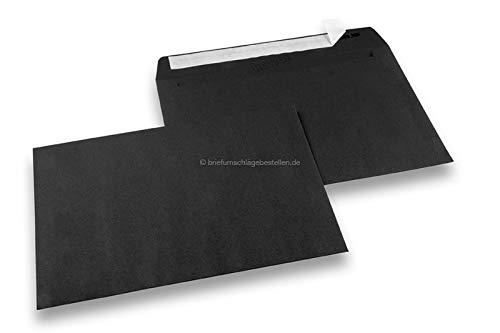 Paper-Media Hello - Sobres de papel (50 unidades, 162 x 229 mm, A5, 120 g), color negro
