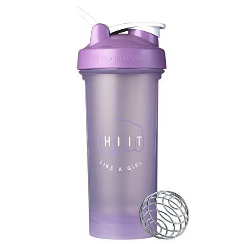 BlenderBottle Motivational Quote Classic V2 Shaker Bottle, 28oz, HIIT Like a Girl