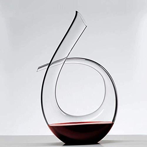 WLA Vino Tinto Fast Decanter 100% Línea de Plomo Cristal de Cristal Vino Decantador Verter Vino Creativo Vino Transparente 1.5L (Color : Black Border)