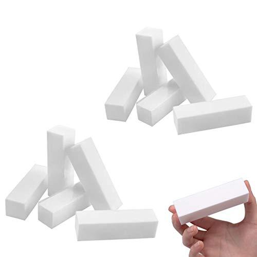 10 x Bloques Pulido de Uñas - Profesional Nail Buffer Pulidor para Uñas de Gel para Uñas naturales y acrílicas - Blanco
