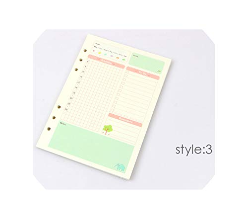 Summer Cute Series Notebook Filler Papers A5/A6 Color Inner Core Planner Inside Page Gift Stationery,Daily Plan,A6