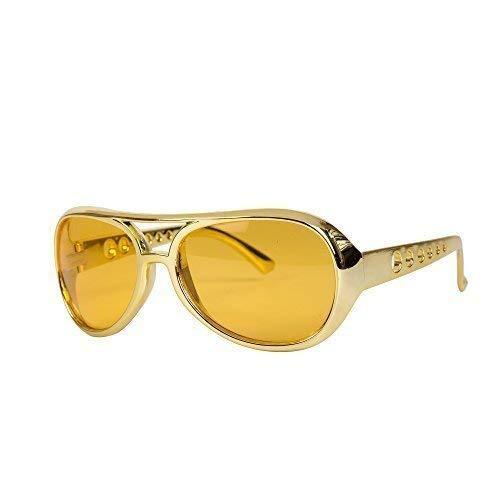 Robelli NEUHEIT Gold / orange Elvis Style Kostüm Brille