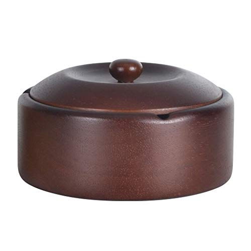 Liangliang 灰皿、オーク材製の組み込みステンレススチール製リビングルーム/オフィス (色 : A)