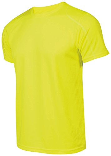 Asioka 375/16 Camiseta de Running, Unisex Adulto, Amarillo flúor, S