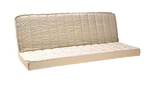 King of Dreams - Colchón de 140 x 200 cm para sofá cama de espuma con memoria de forma de densidad 55 kg/m3 y espuma de tejido Strech muy resistente, comodidad muy firme, altura 15 cm