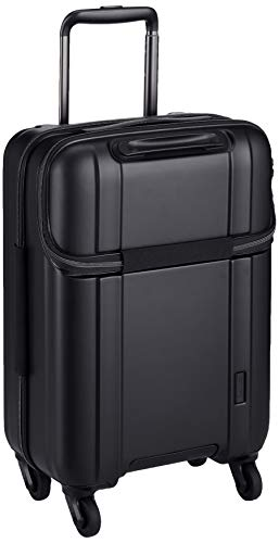 [シフレ] スーツケース ハードジッパー ZEROGRA (ゼログラ) フロントオープン 上パカ仕様 ZER2174-48 機内持ち込み可 保証付 30L 48 cm 2.7kg マットブラック