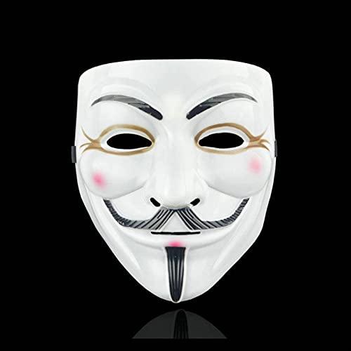 Máscara Assustadora de Halloween, Filme Cosplay V para Vendetta Hacker Mask Anonymous Halloween Presente de festa de Natal para a máscara de tema de filme adulto (Color : B)