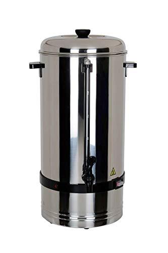 L2G Percolateur Professionnel 15Litres pour chauffer / garder au chaud café, thé, eau, vin chaud..Protection contre la surchauffe, réglable en continu tout inox chromé