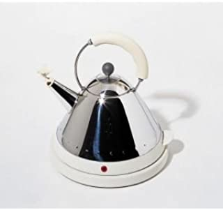 Alessi Michael Graves Electric Kettle in Blue with Red Bird