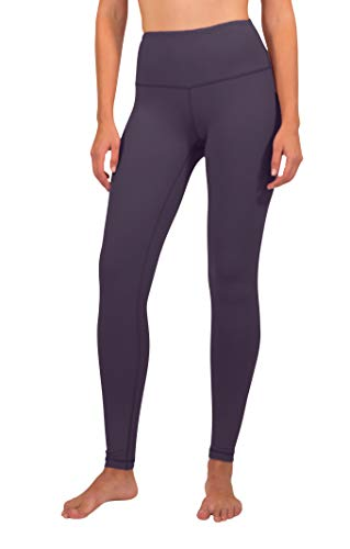 90 Degree By Reflex High Waist Squat Proof Interlink Leggings for Women - Sweet Acai - Large