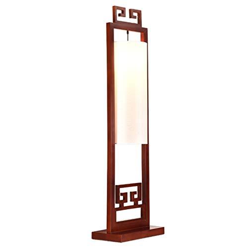 Tingting1992 Nueva lámpara de pie China de Madera Maciza Sala de Estar Dormitorio Lámpara de Mesa Vertical Lámpara Retro Lámpara de pie