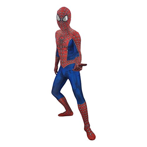 Volwassen Spiderman Kostuum pak Superhero Fancy jurk PS4 Prestaties Cosplay Jumpsuit Onesies Set Anime Morph Attire SPIDERSYBB Height 160-165cm Rood