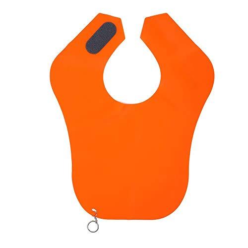 Kapper Kapsel Cape, Siliconen Herbruikbaar Waterdicht Kapsel Kam-uit Cape Professionele Salon Mantel Voor Haarknippen Kleuren Verven Permanent (Oranje)(Oranje)