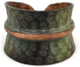 The Bridge Collection Eclectic Patina Copper Cuff Ring