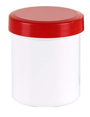 10 Salbendosen Salbendose Cremdose 30 g 35 ml Deckel rot Salbenöschen Dose Kunststoffdosen Schraubdeckeldosen Schraubdeckel Salbentiegel Apothekerdosen Apothekenqualität Fa.ars