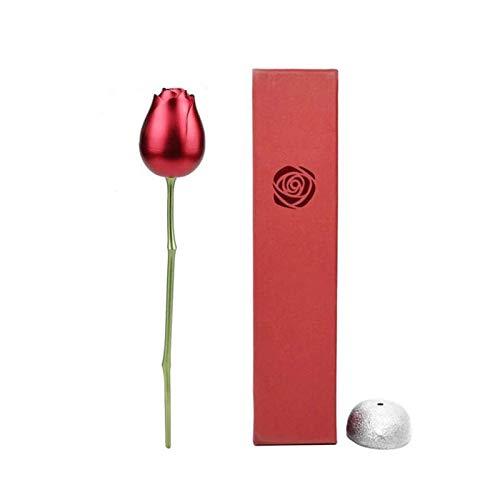 litulituhallo Caja de regalo de corazón rosa conjunto aleación anillo rojo joyería caso mini pendientes organizadores 21x48cm