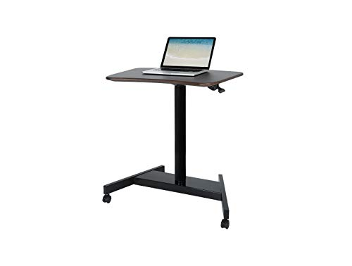Pneumatic Desk, Adjustable Height Laptop Desk, Ergonomic Design, Sit and Stand Mobile, Excellent Lectern for Classrooms, Offices, and Home! Black