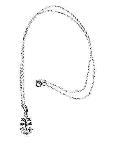 perlascarel Collar Colgante Cruz de Caravaca 20 mm (17+3) y Cadena a 45 cm Todo Plata de Ley y Estuche Incluido