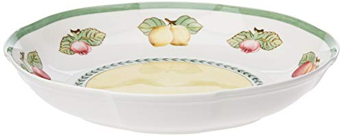 Villeroy & Boch French Garden Fleurence Coupelle de présentation, 38 cm, Porcelaine Premium, Blanc/Multicolore