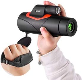 Monocular Telescop 12x50 Wide View High Definition Monocular Telescope Zoom Retractable Eyepiece and FMC BAK4 Prism Waterproof Fog Proof Comes with a wrist strap for Hiking