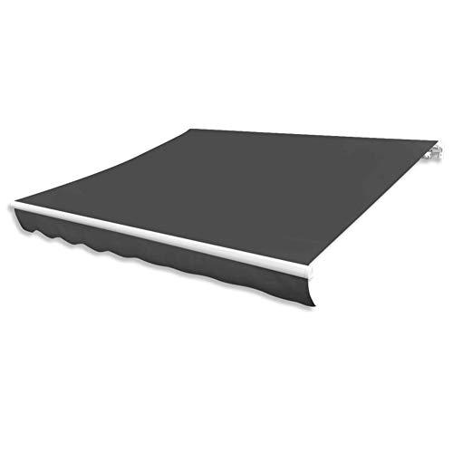 Lyrlody- Techo de repuesto para toldo de terraza 336 x 246 cm, sin estructura, lona de toldo protección solar de repuesto, tejido parasol duradero para toldo de toldo a rayas.